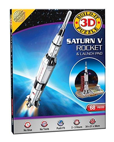 Construya su propio kit modelo del rompecabezas 3D - cohete Saturno V (68 Piezas)