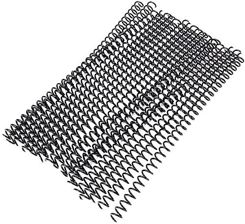 Canutillos de alambre A4, 20 unidades, 11 mm, 13 mm y 19 mm de diámetro, color negro