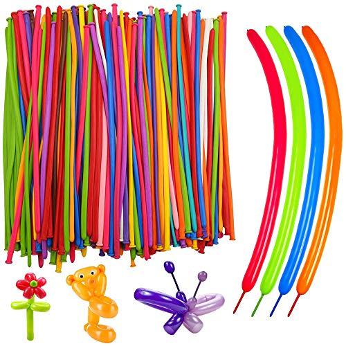 Knowing Magische Luftballons,Magisches Latexballons, Gemischte Farbe Lange Verdrehen Ballons Zufällige Farbe 200er