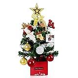 クリスマスツリー 52CM 卓上 クリスマスツリー ミニ クリスマスツリー コンパクト 電飾つき セット おしゃれ 高級クリスマスツリー かわいい クリスマスグッズ クリスマスプレゼントに最適 DLY