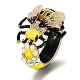EVER FAITH Pulsera de cristal para mujer, diseño de abejorro de abeje, para disfraz