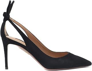 AQUAZZURA Luxury Fashion Womens DENMIDP0SUEBLACK Black Heels | Fall Winter 19