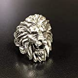 Silver Men Ring,Signet Silver Lion Rings,Men Lion Head Ring,Oxidized men ring,Men African Jewelry,Zodiac Men Ring,Silver Men Gift,christmas