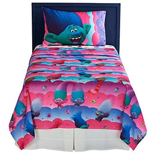 DreamWorks trols microfibra Juego de sábanas con fundas de almohada, Full