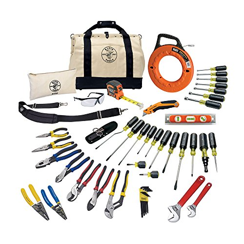 Tool Set with Utility Knife, Adjustable Wrenches, Screwdrivers, Pliers, and More, 41 Piece Klein...