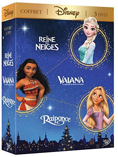 Coffret 3 films : vaiana, la légende du bout du monde ; la reine des neiges ; raiponce [FR Import]