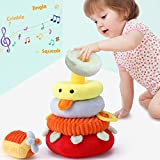 iPlay, iLearn Soft Plush Baby Toys, Safe First Stacking Rings, Sounds n...