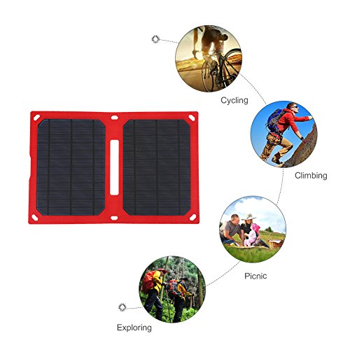Vbestlife Foldable Solar Panel Charger 12W 5V USB Waterproof Portable Solar...