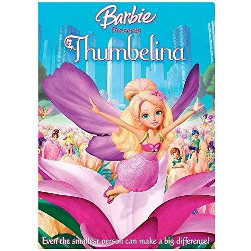 Barbie presenta Thumbelina (2009) póster de Anime pintura en lienzo decoración de la habitación de dibujos animados regalos para niños -50x70cm sin marco