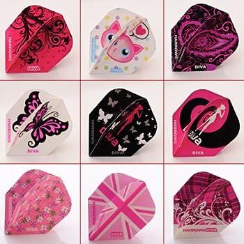 30 Stück iFlights Dart Flights Standard Leo Muster Pink//Rosa