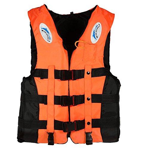 Lixada ライフジャケット ライフベスト 呼び子付け フローティングベスト 大人用釣り 救命胴衣 ウォーター スポーツ カヤックボート 漂流安全 男女兼用 S-2XL