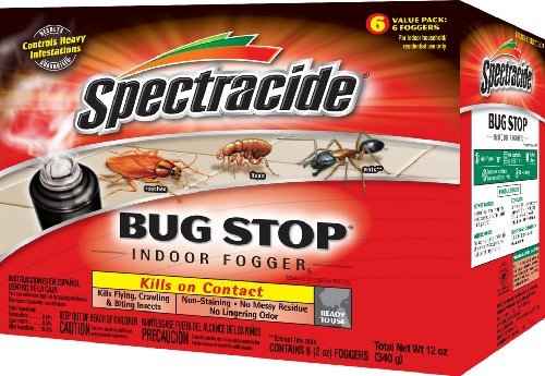 Spectracide 100046128 Bug Stop Indoor Fogger, 6/2-oz, Brown/A
