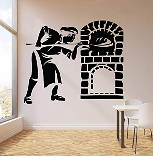 Pegatina de pared de panadería, calcomanía de vinilo para panadería, decoración de panadería para cocina, pegatina para horno, decoración de tarta de pan para hornear, 67 * 57 cm