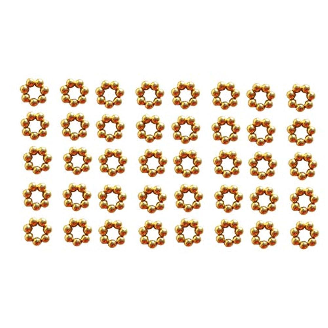 ストライド理論的出席するSatfale Jewellers 固体18Kイエロー3ミリメートル42個インド手作りスペーサービーズ ゴールド