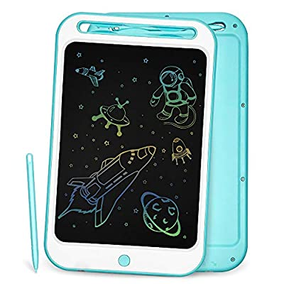 LCD Writing Tablet Richgv 10 Inches Colorful Electronic Writing & Drawing Doodle Board with Memory Lock Digital Writing Pad for Kids and Adults at Home, School, Office