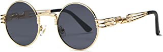 AEVOGUE Sunglasses Steampunk Style Round Metal Frame Unisex Glasses AE0539