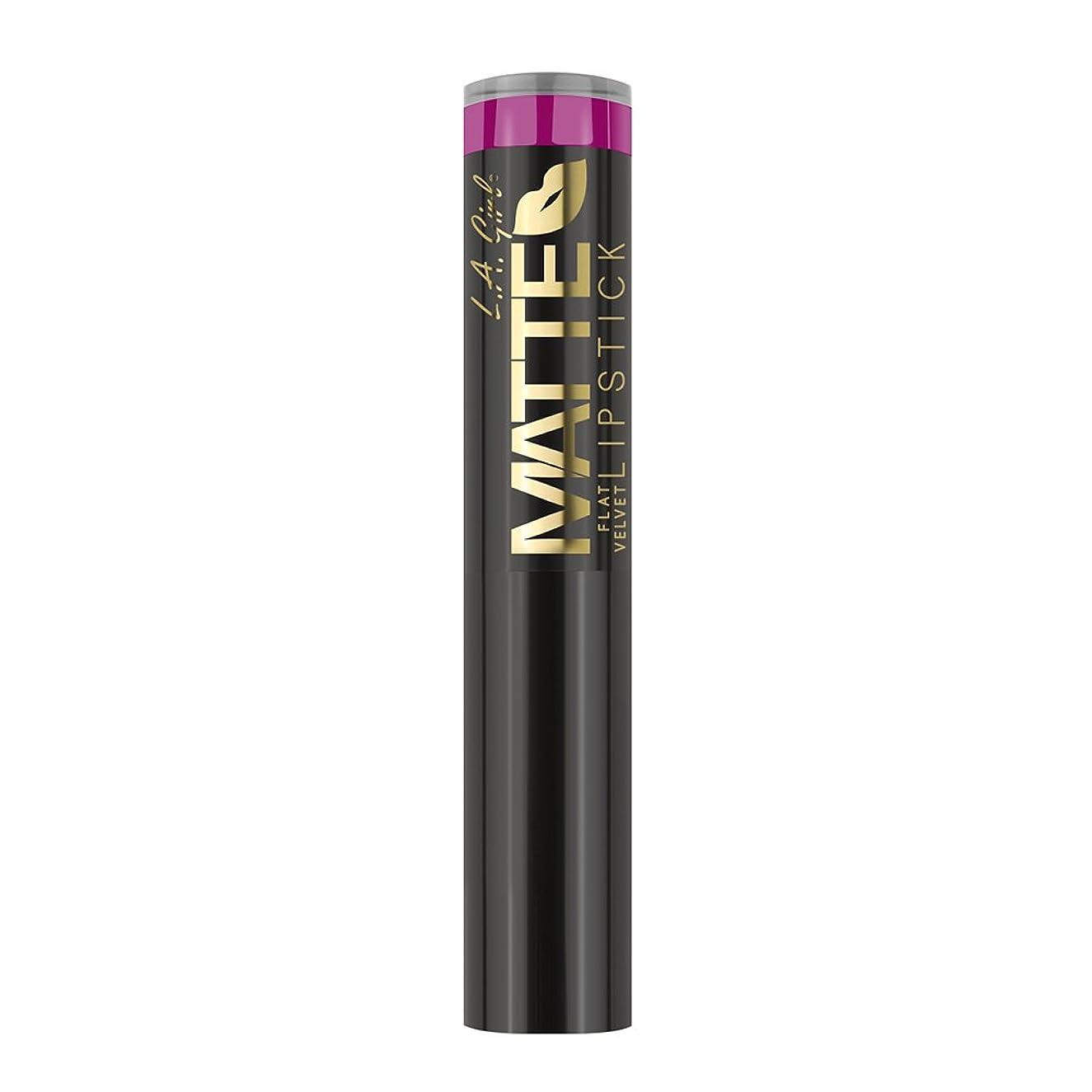 再集計オリエンテーション男やもめL.A. GIRL Matte Flat Velvet Lipstick - Manic (並行輸入品)