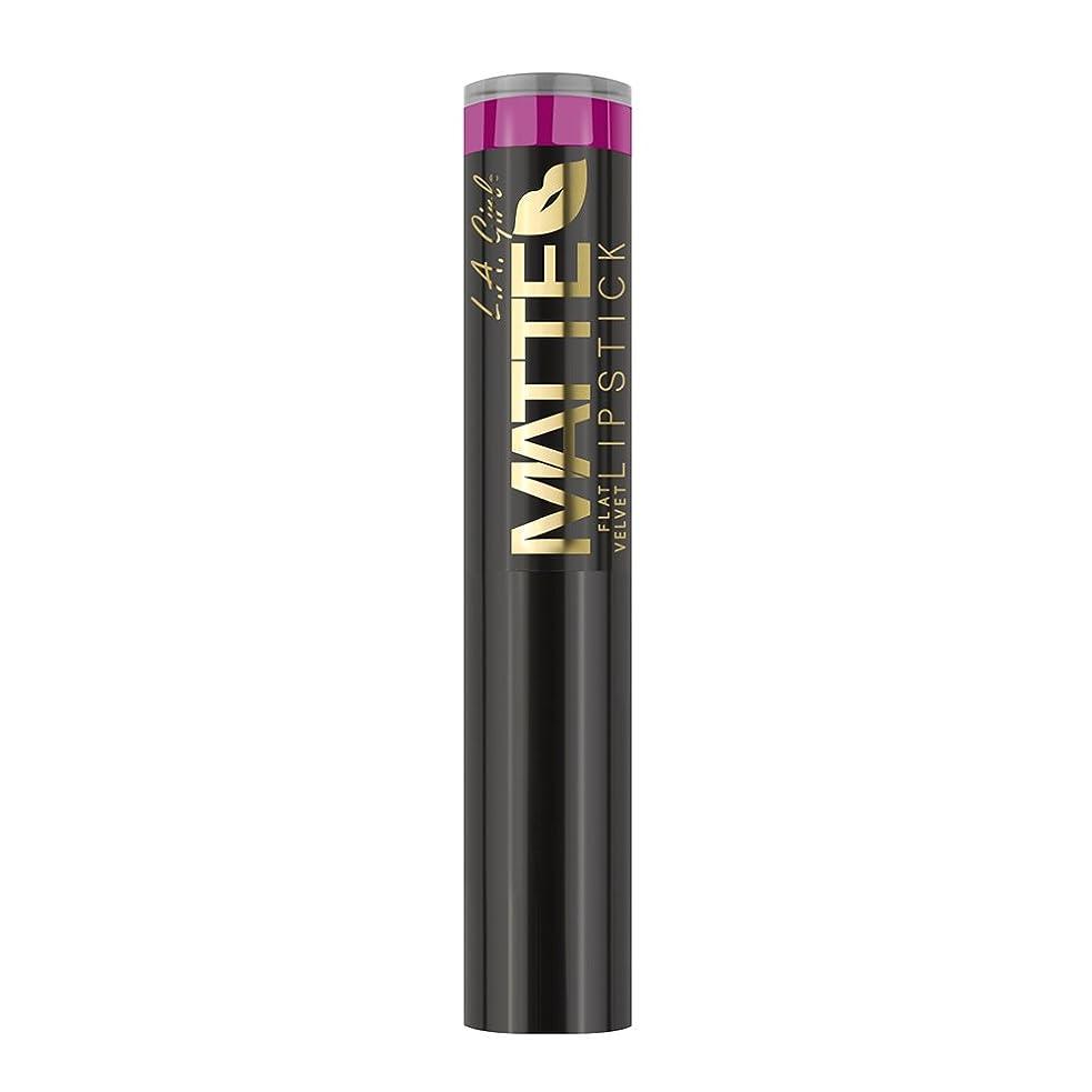 マトロンフェミニン兄弟愛L.A. GIRL Matte Flat Velvet Lipstick - Manic (並行輸入品)