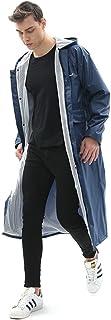 YUHANG Mens Womens Windbreaker Long Raincoat Waterproof Rain Jacket Fashion Reusable Rain Poncho with Hood Hiking Fishing ...