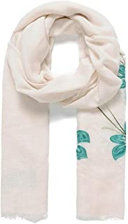 Intrigue Womens/Ladies Embroidered Lily Scarf