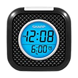 SHARP Pillow Personal Alarm Clock – Wake to Vibration or Beep! - Use on Nightstand or Under Pillow! – Great for Travel or Home Use - Battery Operated - Black