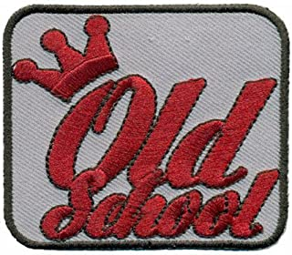 Crown Old School Hotrod Vintage Biker Oldtimer US Car Iron on Patch Badge