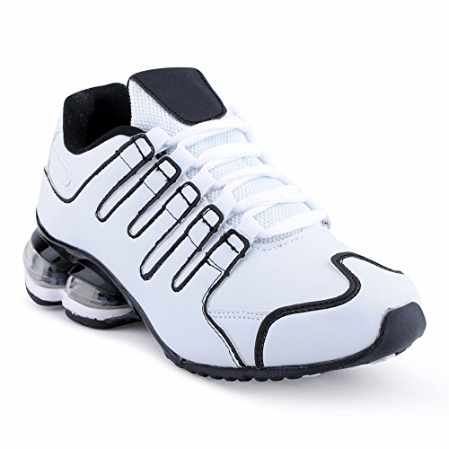Fusskleidung Herren Damen Sportschuhe Dämpfung Neon Laufschuhe Gym Sneaker Unisex Weiss Schwarz EU 36