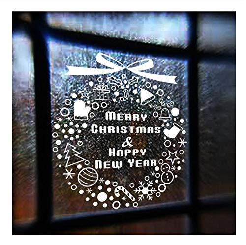 Nouvel An Fenêtre En Verre Mur Autocollant De Noël Cadeau Flocon De Neige Campanula Arbre Home Decal Joyeux Noël Décor Home Supplies