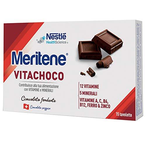 Meritene Mer0200012 Vitachoco Fondente - 15 Tavolette da 5 Gr
