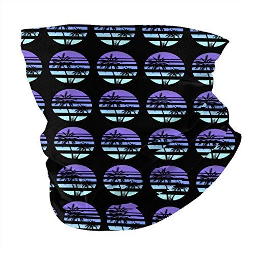Iop 90p Pañuelo retro de palmeras de sol con variedad de pañuelo para la cabeza al aire libre