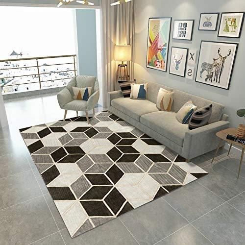 Happves Alfombra Color of Rubik'S Cube Moderno geométrico Tradicional Sala de Estar Dormitorio decoración del hogar Yoga Ocio Estera Estera de arrastre-75x120cm