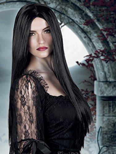 Boland- Parrucca Lunga Strega Bewitched per Adulti, Nero, Taglia Unica, 86085