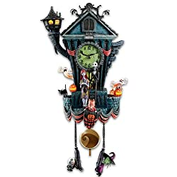 The Bradford Exchange Cuckoo Clock: Tim Burton's The Nightmare Before Christmas Wall Clock