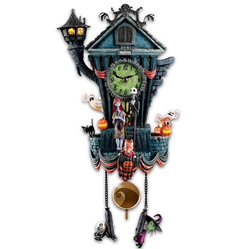 The Bradford Exchange Cuckoo Clock: Tim Burton's The Nightmare Before Christmas Wall Clock
