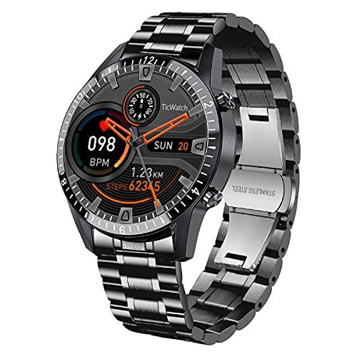 BEN NEVIS Reloj Inteligente, Smartwatch Hombre, Impermeable IP67, Frecuencia Cardiaca y Presion Arterial, Fitness, Stepper, 10 Modo Deportivo iOS/Android