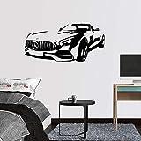 Wandtattoo,AMG GT Roadster Kunst Dekor Wand Zitat Aufkleber Kinderzimmer Spiele Bar für Kinderzimmer Wohnzimmer Schlafzimmer Wandbild 58 x 28 cm