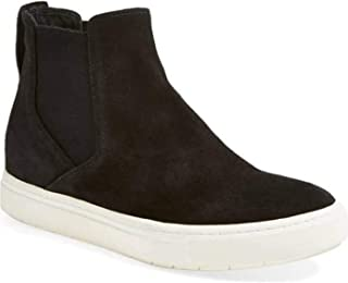 Chellysun Womens Slip on High Top Sneakers Chelsea Fashion Casual Platform Flat Ankle Boots