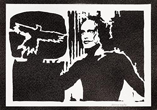 Poster Il Corvo Brandon Lee Handmade Graffiti Street Art - Artwork