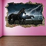 Pferd Gewitter Blitz Wandkunst Aufkleber Wandtattoo Poster