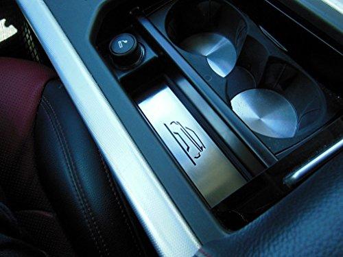 Cubierta De Acero para 2011-2018 Evoque - 1 Pieza Emblema Portaobjetos De La Consola Central Placa Inox Metal Cepillado Interior Decoración Personalizados Hechos a Medida Tuning