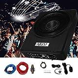 10 Inch Under Seat Woofer Black Slim Under Seat Car Active Sub Woofer Bass Aluminium Alloy Speaker 12V 600W