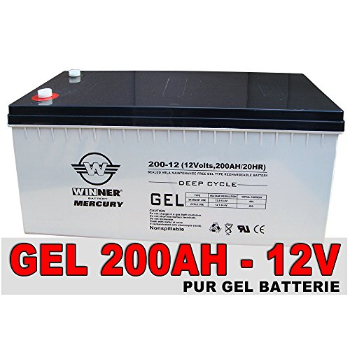 Gel-Batterie 200Ah Akku Versorgungsbatterie Solar Antriebs Mover Boots Batterie extrem zyklenfest 210Ah