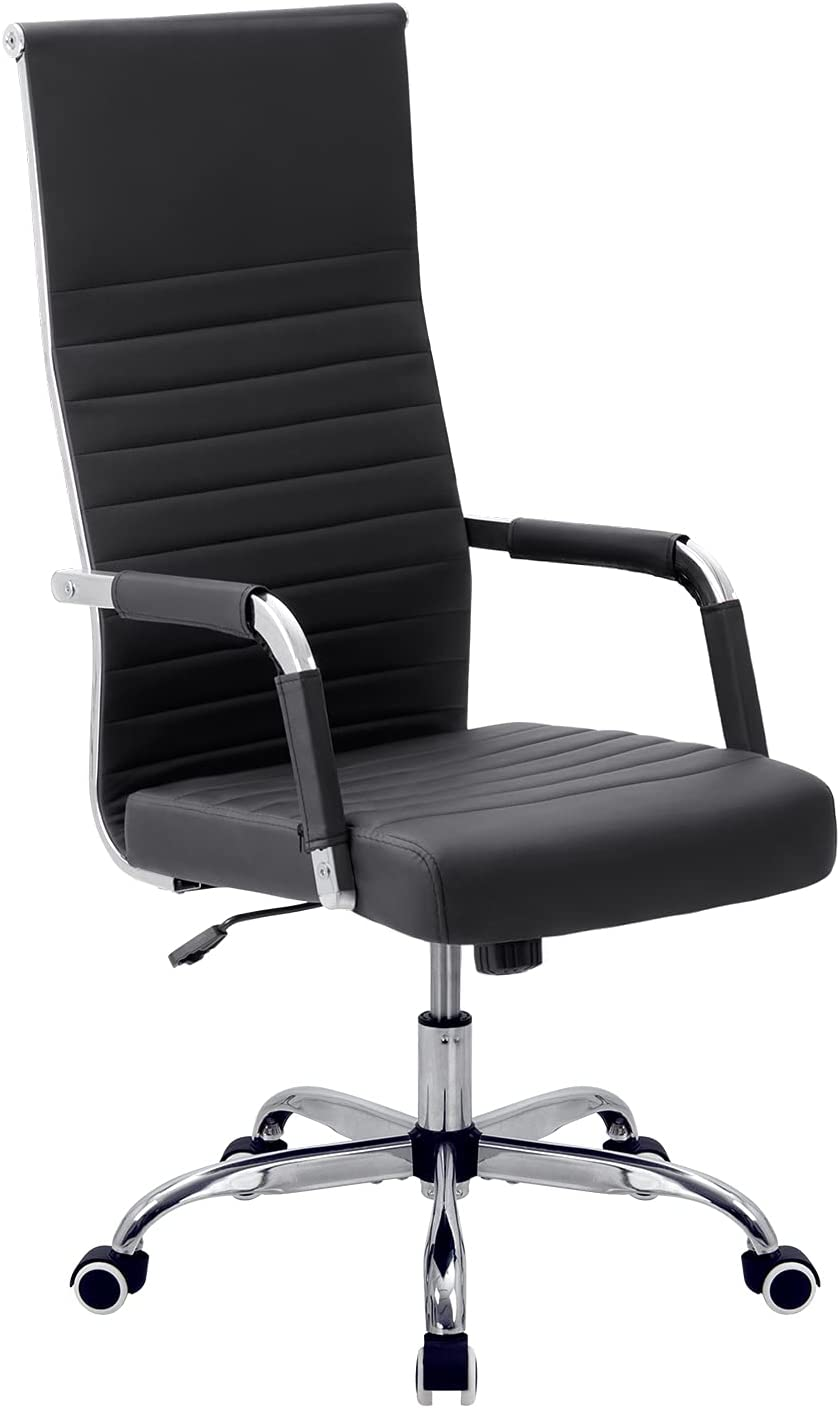 VICTONE Ribbed Office Beauty products Chair High PU Leather Executive Back Confe Washington Mall