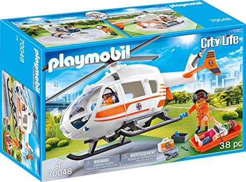 Playmobil City Life 70048 Rettungshelikopter, Ab 4 Jahren