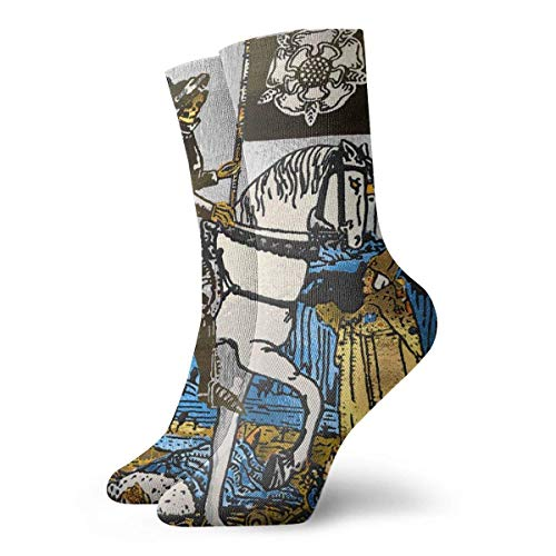 JONINOT Tarot Major Arcana Death Men 's Essential Sports Casual Algodn Crew Calcetines Medias W8.5CM X L30CM