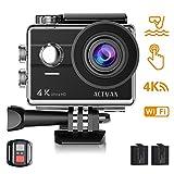 ACTMAN Caméra Sport 4K/1080P WiFi 16MP V3 Ultra HD Caméra d'action Etanche 30M, 170...