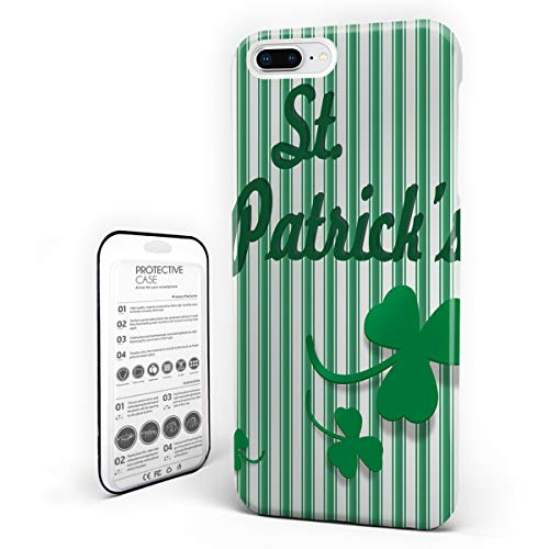 iPhone 6 Case/iPhone 6s Case Celtic Irish Decor Design Hard Plastic PC Ultra Thin Protective Phone Case Cover Compatible iPhone 6/6s (4.7 inch) St. Patrick's Day Greetings Vertical Stripes Backdrop