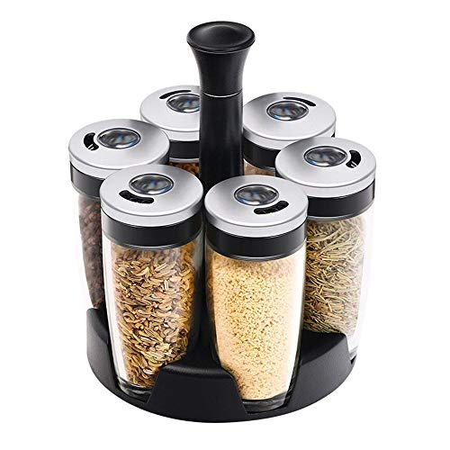 Zhiyangmaoyi 調味料ボトル 調味料ポット スパイスジャーセット 収納用 スパイス 塩 砂糖 飲食店 家庭キッチン 6個セット100ml