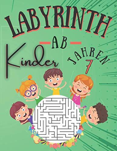 Labyrinth Kinder AB 7 JAHREN: 100 Labyrinth Rätsel Für Kinder Ab 7 jahren mit Lösungen | Level sehr leicht | rätselhefte für kinder ab 7 jahre | ... Kinder | Geschenkidee fur Mädchen und Jungen