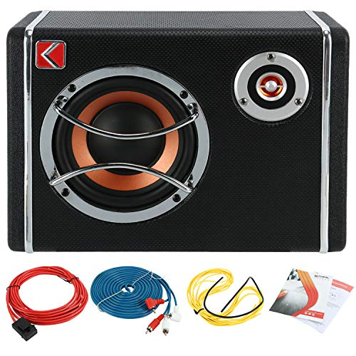 6 Inch Ultra-Thin Under Seat Car Low Sound Sub Woofer Powered Active Bass Amplifier